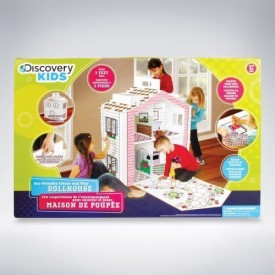 Discovery Kids Cardboard Color and Play Dollhouse 3 Feet Tall