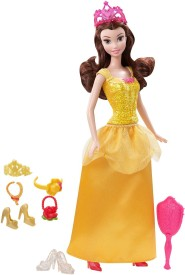 Mattel Sparkle Princess Belle Doll and Accessories