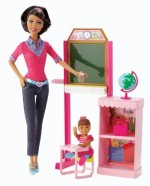 Barbie Dolls & Doll Houses Barbie careers teacher african american playset