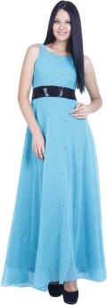 D&S Women's A-line Light Blue Dress