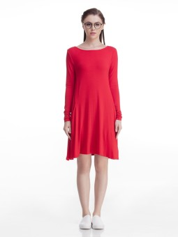 Femella Women's A-line Red Dress
