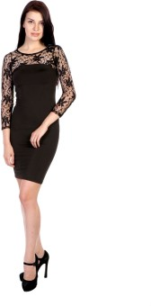 James Scot Women's Bandage Black Dress