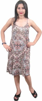 Indiatrendzs Women's A-line Multicolor Dress