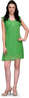Kiosha Women's A-line Light Green Dress