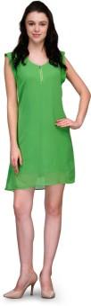 Kiosha Women's A-line Light Green Dress