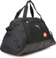 Puma Fit At Sports Duffle 19.3 Inch Travel Duffel Bag Black, Black, Fluo Pink