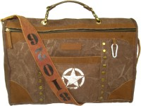 The House Of Tara Distress Finish Studded Duffle Bag 19 Inch/48 Cm Acorn Brown