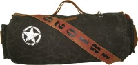 The House Of Tara Distress Finish Canvas Duffle/Gym Bag 20 Inch/50 Cm Phantom Black