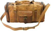 Urban Dezire Genuine Leather Gym 20 Inch Travel Duffel Bag Brown
