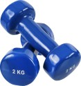 Proline Vinyl Dipping Fixed Weight Dumbbell - Pack Of 2, 2 Kg Each