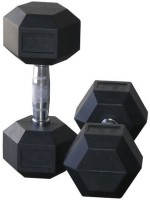 Protoner Rubber Hexagonal 4kg Pair Fixed Weight Dumbbell (Pack Of 2, 4 Kg Each)