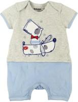 Babyoye Premium Baby Boy's Grey Romper