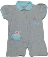 Johny Johny Yes Papa Baby Girl's Grey Romper