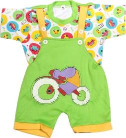 Babeezworld Baby Boy's Green Dungaree