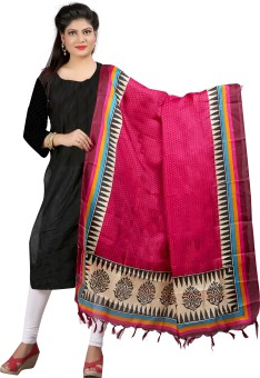 Archishmathi Art Silk Floral Print Women's Dupatta - DUPEJSGAV5JGP4ZF