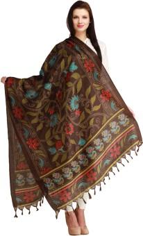 Aksara Art Silk Floral Print Women's Dupatta
