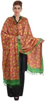 Narangi Silk Cotton Blend Floral Print Women's Dupatta - DUPEA8WR5ZBRX6BX