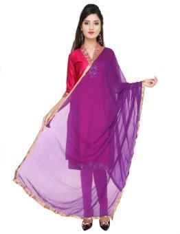 Dupatta Bazaar Faux Chiffon Solid Women's Dupatta - DUPE7BZ5GHS4T7GF