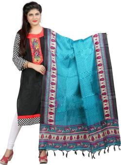 Archishmathi Art Silk Floral Print Women's Dupatta - DUPEJSGAHGGCR883