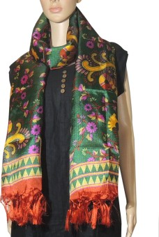 Indian Fashion Guru Raw Silk Floral Print Women's Dupatta - DUPE7NME2UGXNAPX