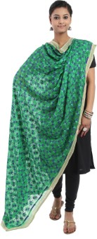Crafts Republic Pure Chiffon Embroidered Women's Dupatta - DUPE96XYRNSVFBH2