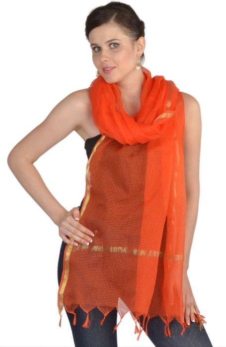 9rasa Cotton Solid Women's Dupatta