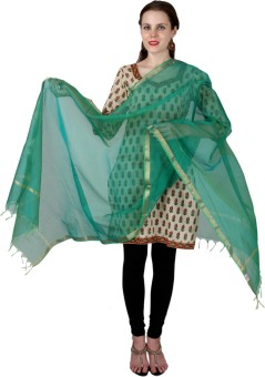 Enchanted Drapes Chanderi Solid Women's Dupatta - DUPE7NJWRAG32FED