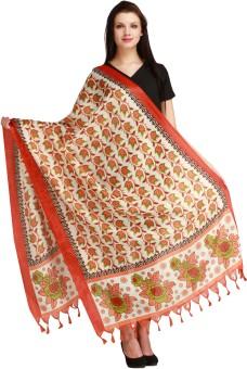 Aksara Art Silk Floral Print Women's Dupatta - DUPEGX4DZKYAPFFJ