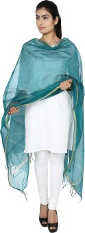 ENCHANTED DRAPES Chanderi Solid Women's Dupatta - DUPE794HPETNEGHA