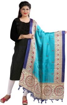 Archishmathi Art Silk Floral Print Women's Dupatta