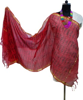 Toygully Art Silk, Chanderi, Silk Cotton Blend Graphic Print, Geometric Print Women's Dupatta