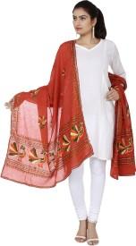 Ethnic Bliss Lifestyles Cotton Embroidered Women's Dupatta