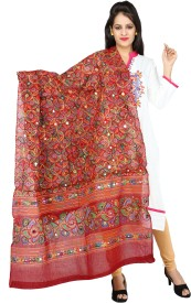 Banjara India Cotton Embroidered Women's Dupatta