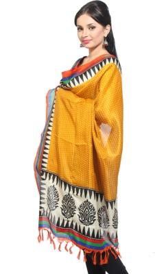 Rutbaa Rutbaa Bhagalpuri Silk Printed Women's Dupatta (Yellow)