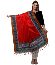 We Desi Art Silk Printed Women's Dupatta