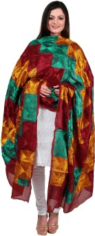 Indiankalakari.com Pure Chiffon Embroidered Women's Dupatta