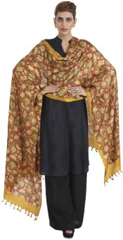 Narangi Silk Cotton Blend Floral Print Women's Dupatta