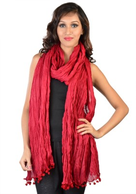 9Rasa 9Rasa Cotton Solid Women's Dupatta (Maroon)