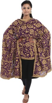 Crafts Republic Pure Chiffon Embroidered Women's Dupatta
