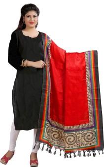 Archishmathi Art Silk Floral Print Women's Dupatta - DUPEJZZGGDBJCZKS