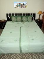 Amita Home Furnishing Single Cotton Duvet Cover Green
