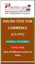 Practice Guru Commerce (CA - CPT) General Economics Topic-wise Role of Different sectors in India Online Test - Voucher