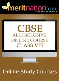 Meritnation CBSE - All Inclusive Online Course (Class 8) School Course Material - Voucher