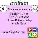 Avdhan CBSE - Mathematics Straight Lines Conic Sections Three D Geometry Made Easy (Class 11) School Course Material - Voucher