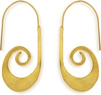 Hedoneesta Hedoneesta Saxophones Loops Yellow Gold Plated Metal Dangle Earring