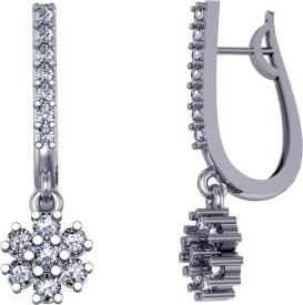 Suvarnadeep Rossy Swarovski Crystal Silver Clip-on Earring