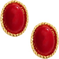 Beingwomen Elegant Gold Plated With Stone Studded Fashion Yellow Gold Alloy Stud Earring