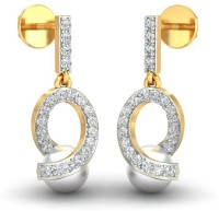GoldAdorn.com The Aquata 14 K Swarovski Crystal, Zircon, Cubic Zirconia, Pearl Gold, Yellow Gold, White Gold, Rose Gold Drop Earring