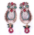 Trinketbag Red & Green Alloy Chandelier Earring