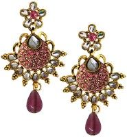 Beingwomen Gold Plated Stone With Kundan Studded Fashion Alloy Drop Earring